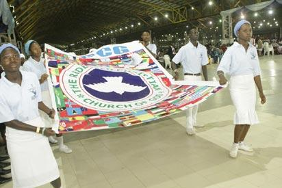 Colour parade by the children during the welcome service at the 62nd Annual Convention of RCCG.