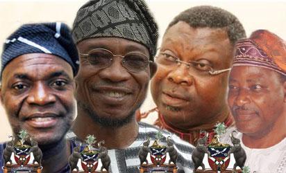 Akinbade, Aregbesola, Omisore      and Akinwusi