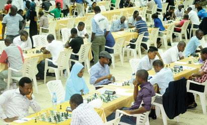 PARTICIPANTS AT THE ON-GOING LAGOS INTERNATIONAL CHESS CLASSICS IN LAGOS ON WEDNESDAY