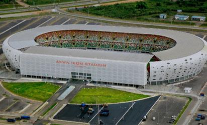 MAGNIFICIENT: The 30,000 capacity Akwa Ibom International Stadium ready for commissioning today.