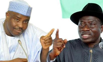 Tambuwal and Goodluck Jonathan