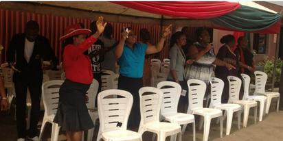 Congregation during praise and worship