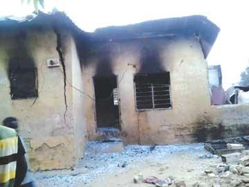 *The house where family perished