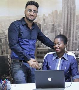 Rookie for October, Oluwamitosin Tobun Hannah with Illrymz, Nigerian Idol Host