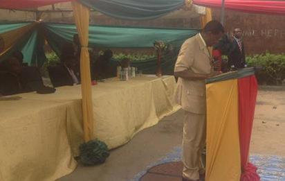 Pastor Adeboye delivering his message