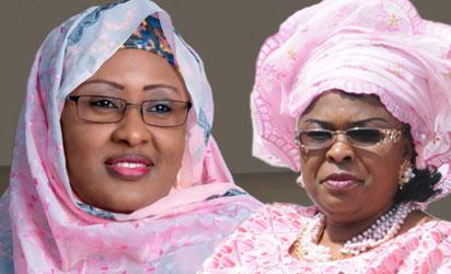 Mrs Aisha Buhari and Patience Jonathan
