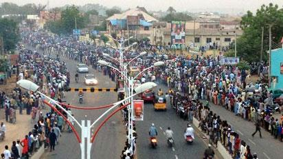 The streets of Kanio ahead of BUhari's declaration as winner of 2015 presidential election.