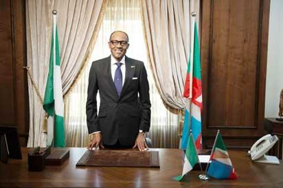 •Buhari: Decked out