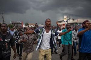 Youths on protest