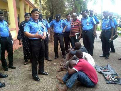 paraded: Some of the suspected criminals paraded by Ogun State Police, yesterday.
