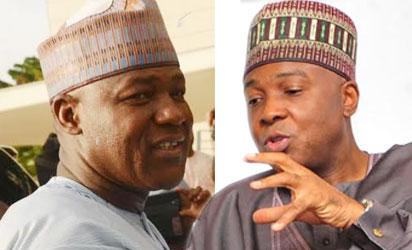 Yusuf Dogara, House of Reps speaker and Bukola Saraki, Senate President