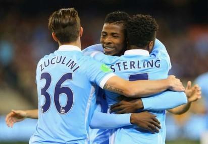 Iheanacho congratulates Sterlings