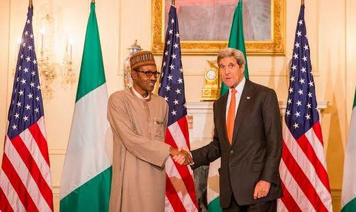 President Muhammadu Buhari and Secreatry of state, John Kerry in Washington DC on July 21st 2015