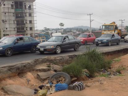 Bad portion of Lagos Ibadan Expressway