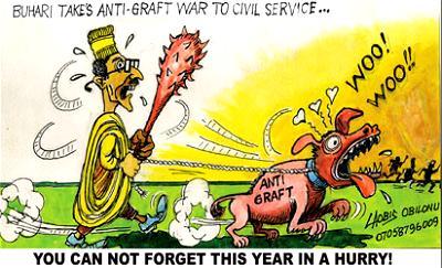 Anti-graft, Buhari