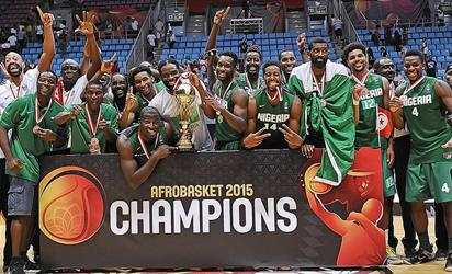 KINGS OF AFRICA: Nigeria's men's national basketball team D'Tigers emerged African champions, Sunday night after beating Angola  74-65 in the final of the 2015 Afrobasket championship in Tunisia.