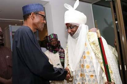 President Buhari and Emir of Kano HRM Muhammadu Sanusi 11