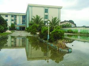 Flooded Mekaval Hotel