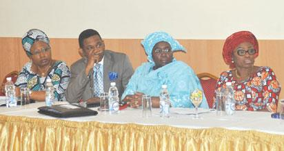 Deputy Governor of Lagos State, Mrs Adebule Oluranti (2nd right), with others at the conference in Lagos.
