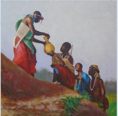 Hand over, depicting the peaceful transition in Nigeria