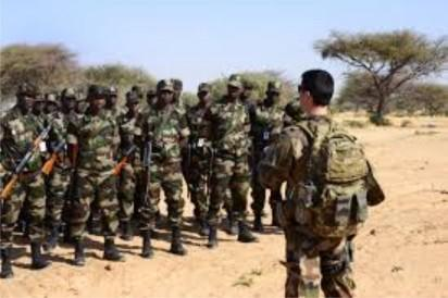 File Photo: Mercenary training soldiers