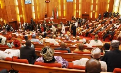 PIC.23. SENATE CHAMBER DURING THE INAUGURATION OF THE 8TH NATIONAL ASSEMBLY IN ABUJA ON TUESDAY (9/6/15). 3023/9/6/2015/CH/BJO/NAN