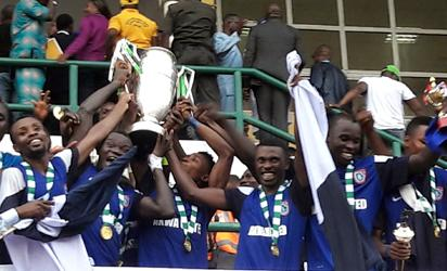 AITEO CUP FINAL PHOTOS: Akwa United clinch second trophy in 2 years