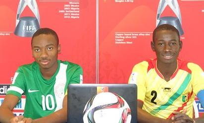 Eaglets captain, Kelechi Nwakali and Abdoul Dante, captain of Mali
