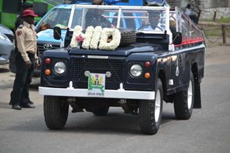 .Ogun State Police parade vehincle DURING THE LAYING-IN STATE OF MAMA HID AWOLOWO AT PARK LANE,APAPA,LAGOS.PHOTO BY AKEEM SALAU