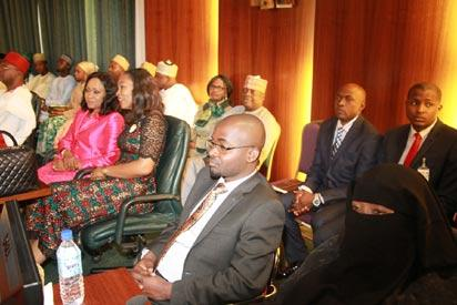 cross section of family members observing events during the swear-in ceremony of the newly composed Federal Executive Council at the Aso Chambers, Presidential Villa, Abuja. Photo by Abayomi Adeshida 11/11/2015