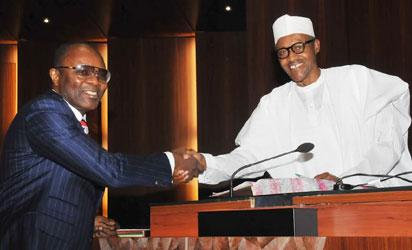Minister of State for Petroleum Resources, Dr. Ibe Kachikwu and President Buhari
