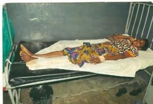 Mrs. Lateefat Bashiru on her sick bed.