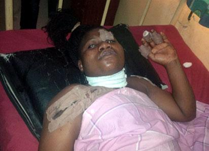 Badagry: The 20-year-old victim, Busayo Amdalat in hospital