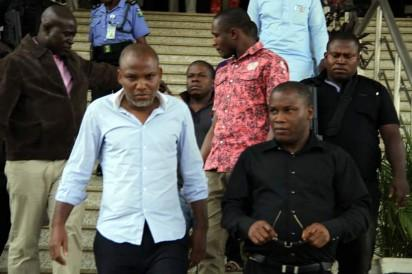 Director of Radio Biafra and Leader, Indigenous People of Biafra (IPOB), Nnamdi Kanu as he appeared before Justice Ahmed Mohammed Federal High Court, Abuja on Wednesday, 23/12/2015
