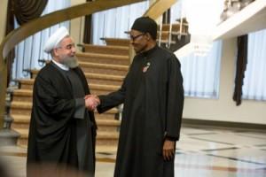 Iranian President, Hassan Rouhani and President Muhammadu Buhari of Nigeria