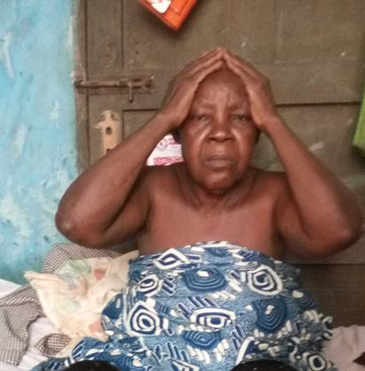 Mrs. Beatrice Oyesunle, the 75-year-old mother of the deceased twin brothers.