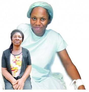 Bereaved  mother, Mrs. Joy Nwafor and Chineye Nwafor ... Dead in her prime