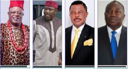 Govs. David Umahi of Ebonyi; Rochas Okorocha of Imo; Willie Obiano of Anambra & Gov. Ifeanyi Ugwuanyi of Enugu