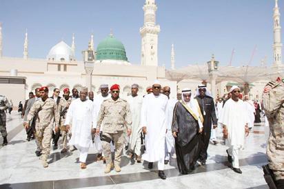 President Muhammadu Buhari arriving Medinah for lesser Hajj, Umrah to pray for Nigeria.