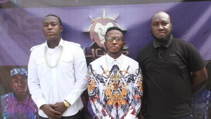 Musician Fakayode Timilehin aka TIM, Ifeoluwa Ismail Lawal aka DJ Kentalky and President_CEO, Lions Music at the Artistes Unveiling which held on Wednesday February 24 2016 at Lekki, Lagos