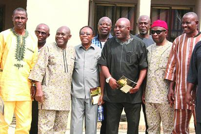 rom left, Francis Nwosu, Godwin Nosike, Onochie Anibeze, Johny Egbonu, Sylvanus Okpala, Christian Chukwu, Ikenna Obu, Professor Chike Anibeze and Mike Ogbuodudu.
