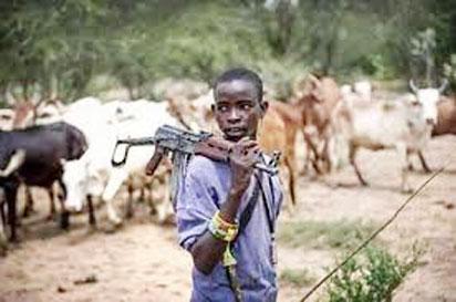 Fulani herdsman with gun