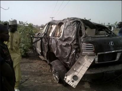 State of Ocholi's car after the auto-crash