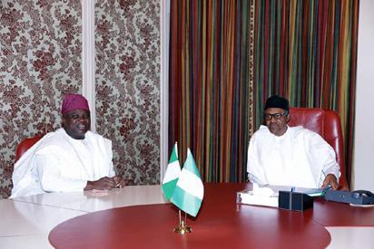 File: Governor Akinwunmi Ambode of Lagos State, during his visit to President Muhammadu Buhari, at the Villa, on Friday, April 29, 2016.