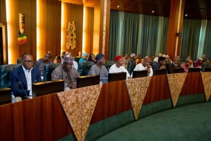 Vice President Prof. Yemi Osinbajo presides over Emergency Federal Executive Council in Statehouse on 8th April 2016