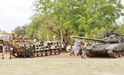 AMOUR COMBAT MACHINES DURING NIGERIA ARMY COMBAT ARMS TRAINING WEEK AT  THE SCHOOL OF ARMOUR IN BAUCHI ON TUESDAY