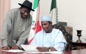 Jonathan and late President Umaru Musa Yar'Adua
