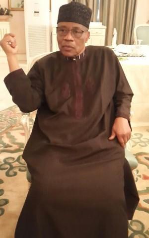 Ibrahim Badamasi Babangida just back from Germany