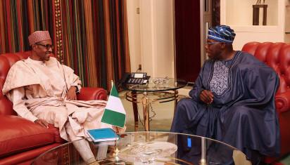 President Buhari and former President, Chief Olusegun Obasanjo at the Statehouse Abuja on 25th July 2016