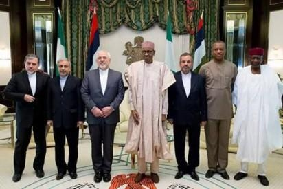 President Muhammadu Buhari receiving a Special Envoy from the President of Islamic Republic of Iran, Mohammad Javad Zarif, at the State House, on Monday, July 25, 2016.